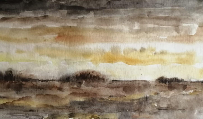 Apokalypse, Aquarell, 25x15, Angelika Harken