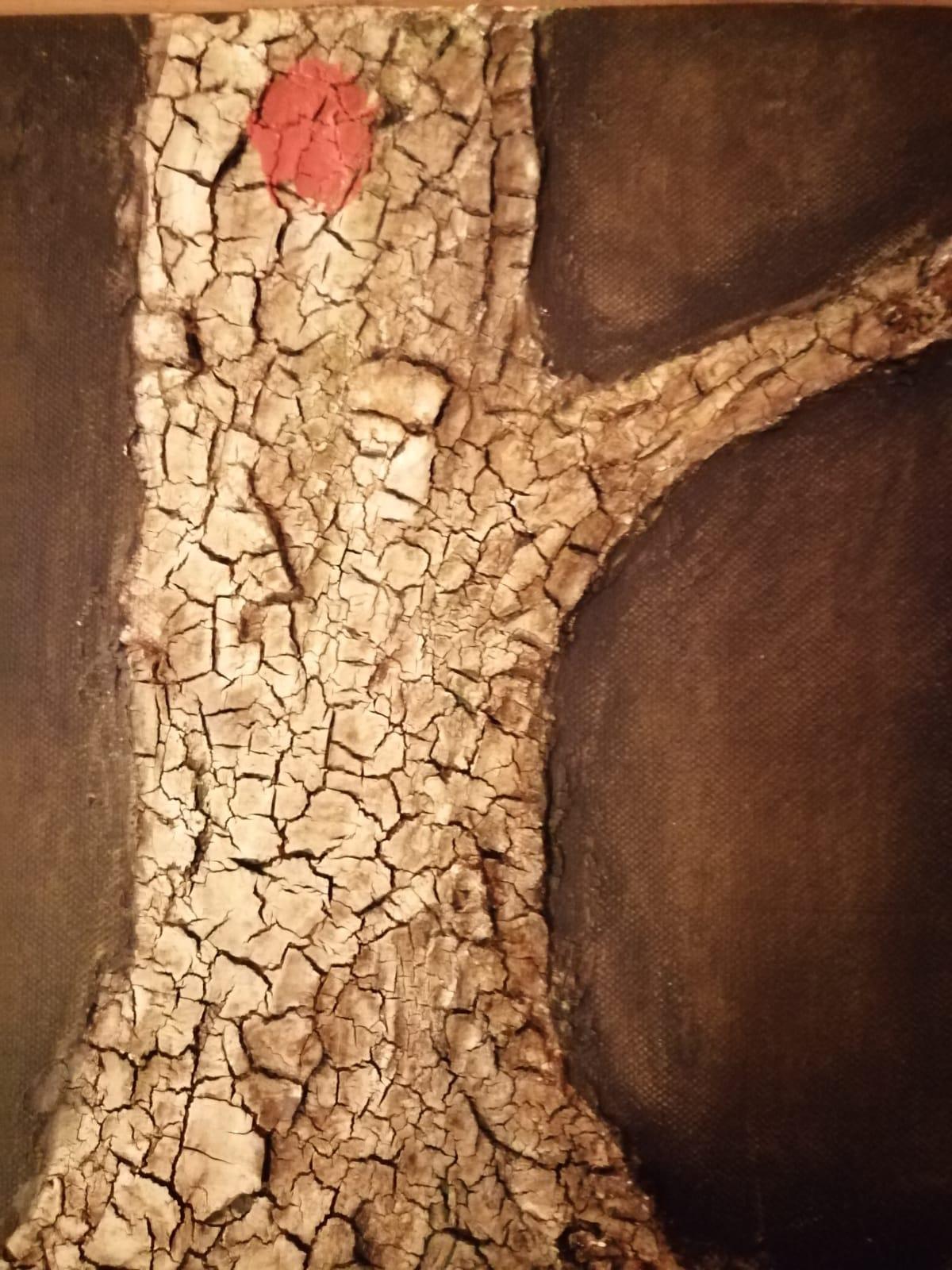 Der Baum ist tot, Mischtechnik, 30x23, Angelika Harken