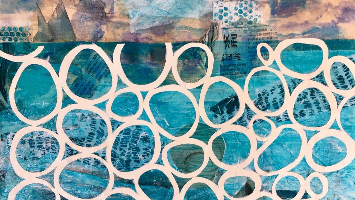MHS Am Ende wird das Meer blau sein, Collage 2019, Mechthild Hartmann-Schäfers